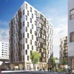 Aussenansicht Wohnprojekt Donaumarina - Mietwohnungen der BAI in 1020 Wien